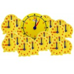 Geared Student Clock , Classroom Set