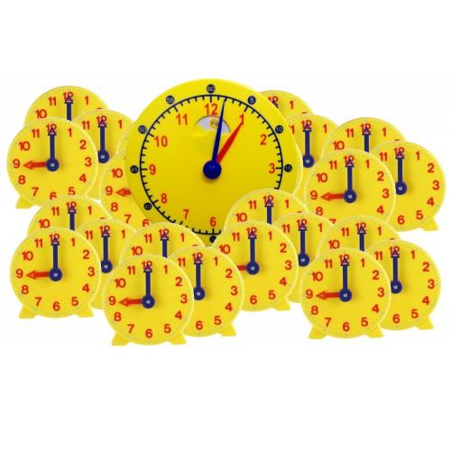 Geared Student Clock , Classroom Set