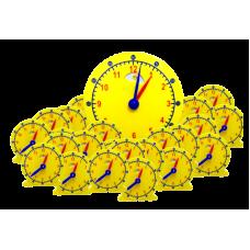 Day-Night Geared Clock, Classroom Set