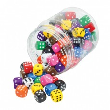Dot Dice , 16mm, Set of 100 in a jar