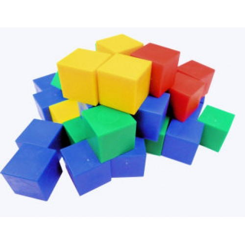 Plastic Cube , 2cm, Set of 100
