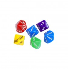 Students Place Value Dice, Set of 6