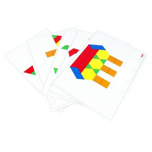 Pattern Blocks Activity Cards
