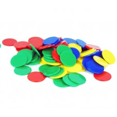 Colour Counting Chips, Set of 100