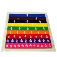 Plastic Fraction Tiles Set of 51