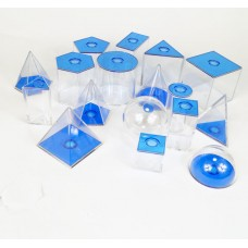 Relational Geometric Solids, Set of 17 shapes
