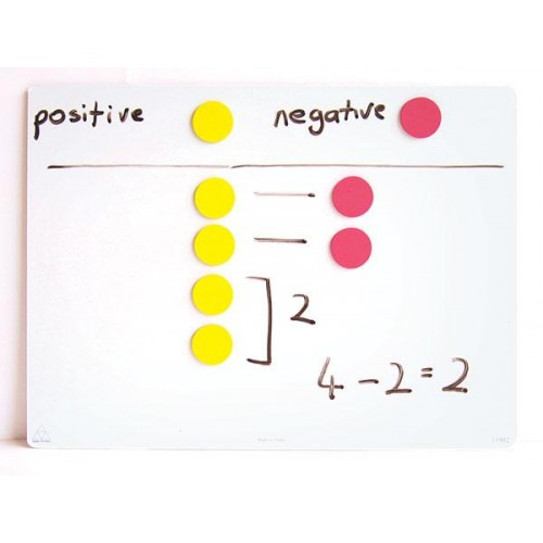 Magnetic 2-colour counters , Set of 50 pieces.