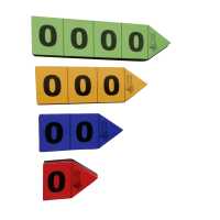 Magnetic Place Value Arrows, Set of 40 pieces.