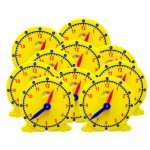 Geared Student Clock with day/night window , set of 10