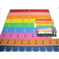 Large Teaching Magnetic Fraction Tiles, Set of 60