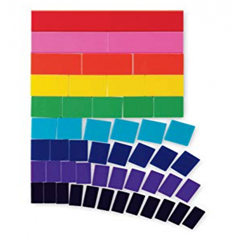 Large Teaching Magnetic Fraction Blank Tiles, Set of 51