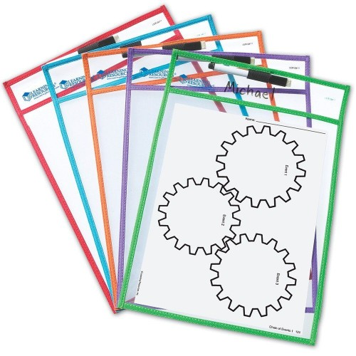 Write and Wipe Pockets, Set of 5