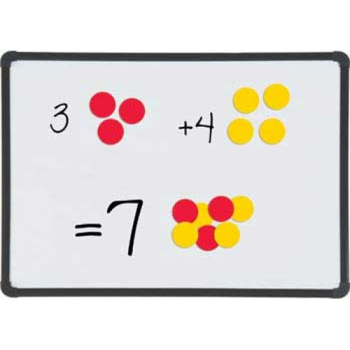 Magnetic Two Colour Counters, Set of 100 (2cm)