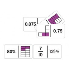 Dominoes fraction Equivalency Mixed 28 pieces